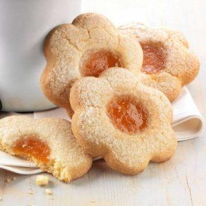 Biscotti alla marmellata di pesche - Pasta Frolla
